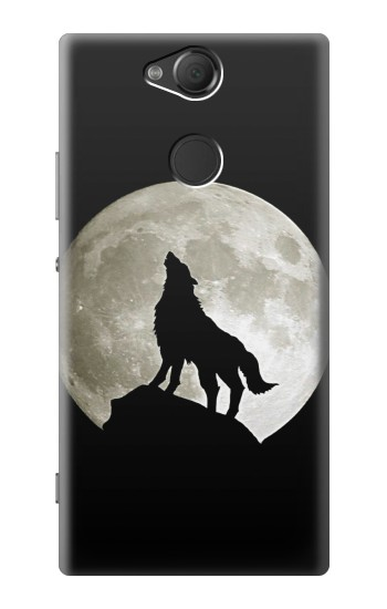 Printed Wolf Howling at The Moon Sony Xperia XA2 Case