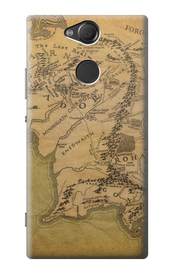 Printed The Lord Of The Rings Middle Earth Map Sony Xperia XA2 Case