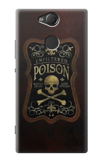 Printed Unfiltered Poison Vintage Glass Bottle Sony Xperia XA2 Case