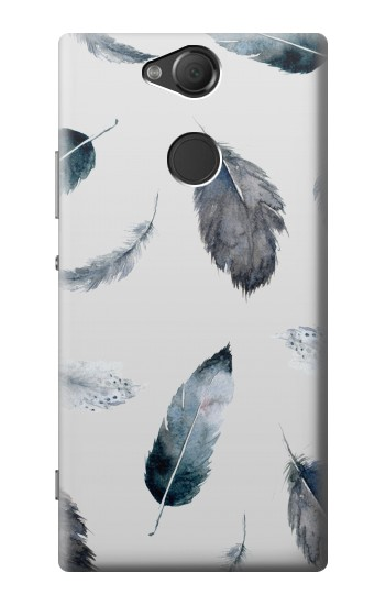 Printed Feather Paint Pattern Sony Xperia XA2 Case