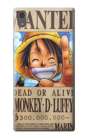 Printed One Piece Monkey D Luffy Wanted Poster Sony Xperia XA Ultra Case