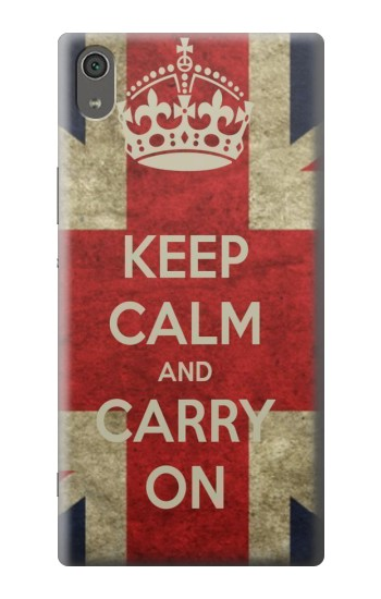 Printed Keep Calm and Carry On Sony Xperia XA Ultra Case
