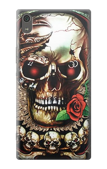 Printed Skull Wing Rose Punk Sony Xperia XA Ultra Case