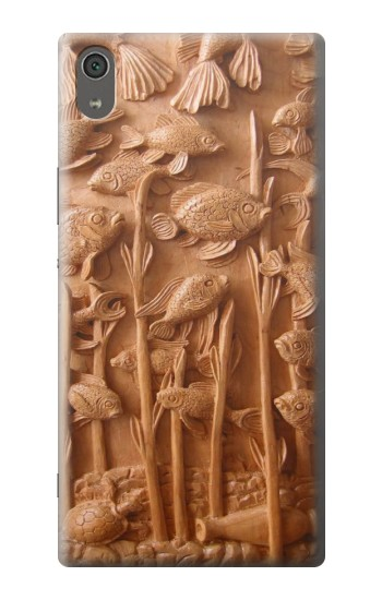 Printed Fish Wood Carving Graphic Printed Sony Xperia XA Ultra Case