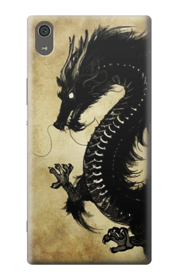 Printed Black Dragon Painting Sony Xperia XA Ultra Case