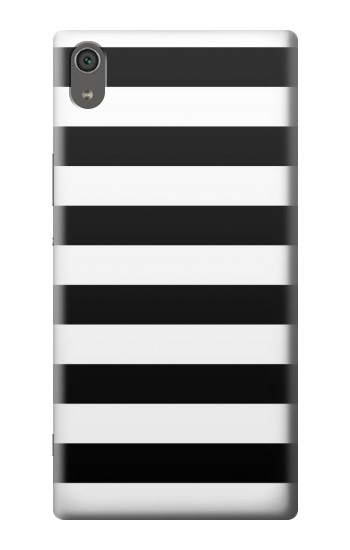 Printed Black and White Striped Sony Xperia XA Ultra Case