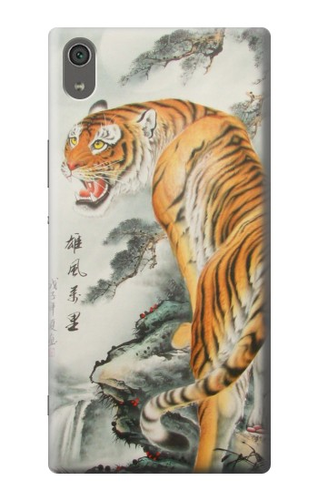 Printed Chinese Tiger Painting Sony Xperia XA Ultra Case