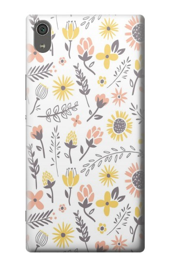 Printed Pastel Flowers Pattern Sony Xperia XA Ultra Case