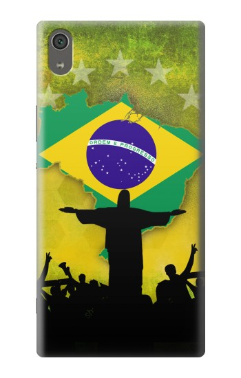 Printed Brazil Football Flag Sony Xperia XA Ultra Case