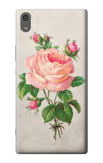 Printed Vintage Pink Rose Sony Xperia XA Ultra Case