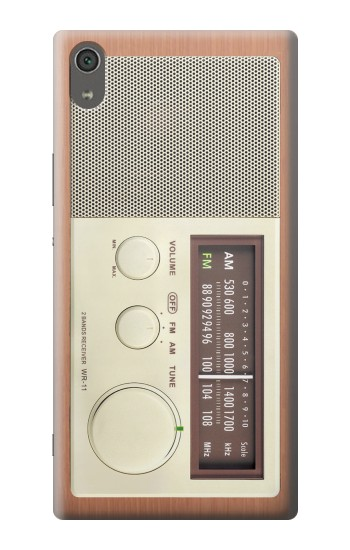 Printed FM AM Wooden Receiver Graphic Sony Xperia XA Ultra Case