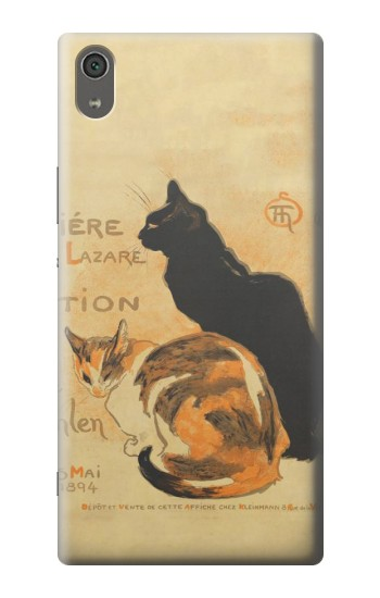 Printed Vintage Cat Poster Sony Xperia XA Ultra Case