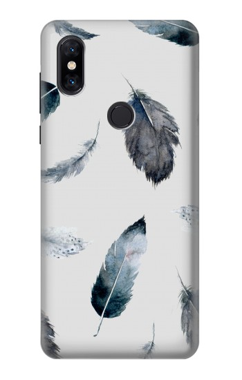 Printed Feather Paint Pattern Xiaomi Mi Mix 3 Case