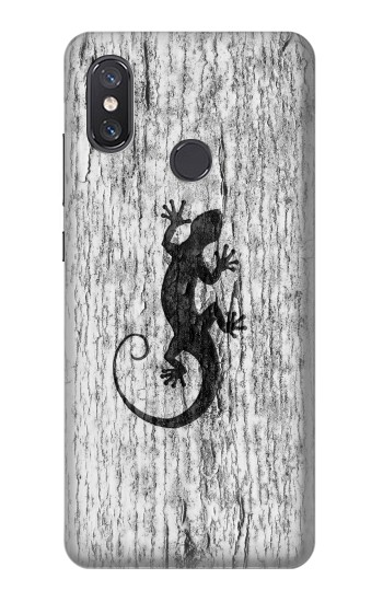 Printed Gecko Wood Graphics Printed Xiaomi Mi 8 Case