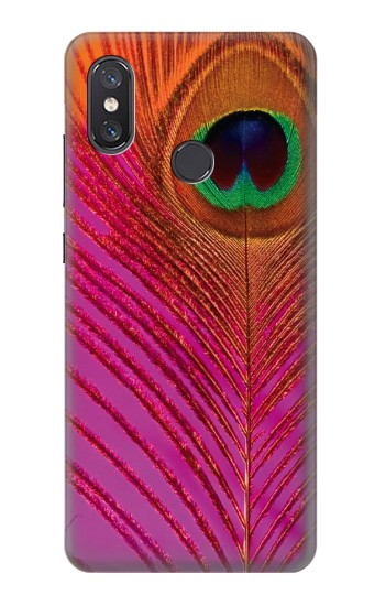Printed Pink Peacock Feather Xiaomi Mi 8 Case