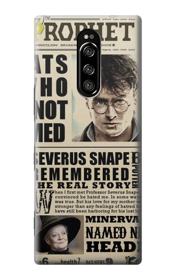 Printed Harry Potter Daily Prophet Sony Xperia 1 Case