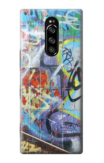 Printed Wall Graffiti Sony Xperia 1 Case