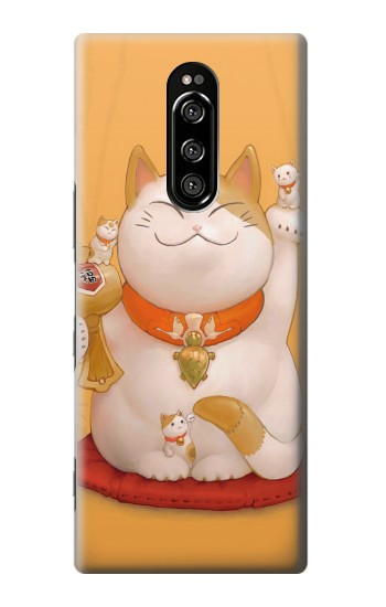 Printed Maneki Neko Lucky Cat Sony Xperia 1 Case