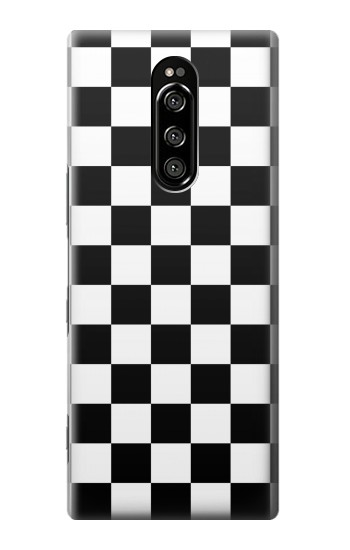 Printed Checkerboard Chess Board Sony Xperia 1 Case