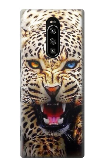 Printed Blue Eyed Leopard Sony Xperia 1 Case