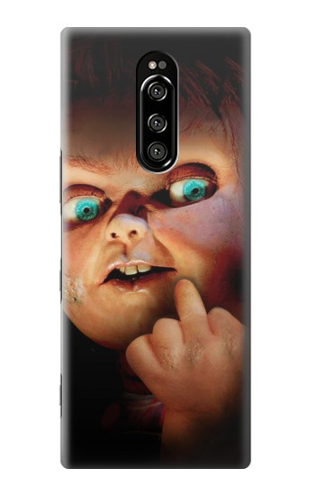 Printed Chucky Middle Finger Sony Xperia 1 Case