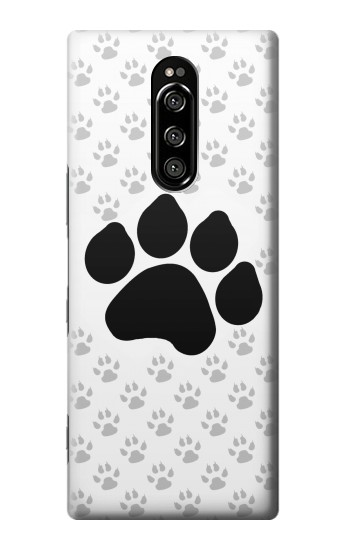 Printed Paw Foot Print Sony Xperia 1 Case