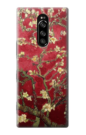 Printed Red Blossoming Almond Tree Van Gogh Sony Xperia 1 Case