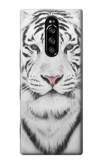 Printed White Tiger Sony Xperia 1 Case