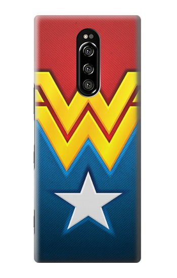Printed Wonder Women Logo Sony Xperia 1 Case