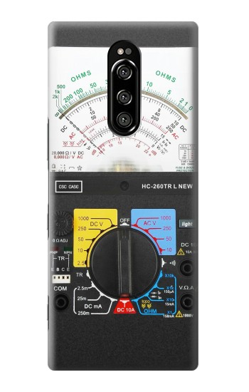 Printed Analog Multimeter Sony Xperia 1 Case