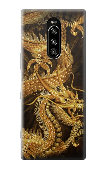 Printed Chinese Gold Dragon Printed Sony Xperia 1 Case