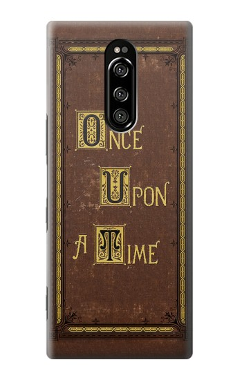 Printed Once Upon a Time Book Cover Sony Xperia 1 Case