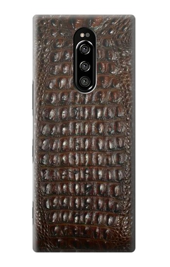 Printed Brown Skin Alligator Graphic Printed Sony Xperia 1 Case