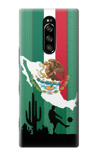 Printed Mexico Football Flag Sony Xperia 1 Case