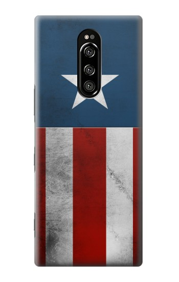 Printed Captain Star Flag of America Sony Xperia 1 Case