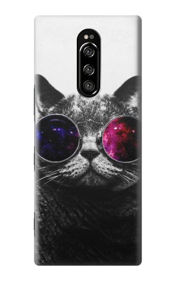 Printed Cool Cat Glasses Sony Xperia 1 Case