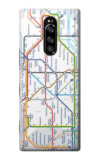 Printed London Underground Map Sony Xperia 1 Case