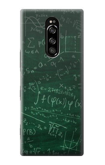 Printed Math Formula Greenboard Sony Xperia 1 Case