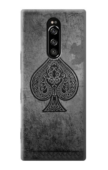 Printed Black Ace Spade Sony Xperia 1 Case