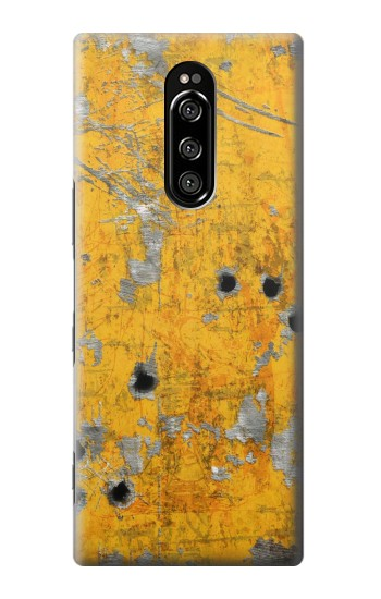 Printed Bullet Rusting Yellow Metal Sony Xperia 1 Case