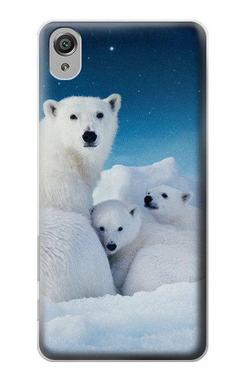 Printed Polar Bear Family Arctic Sony Xperia X Case