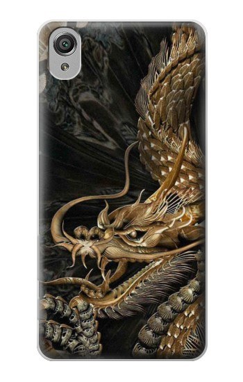 Printed Gold Dragon Sony Xperia X Case