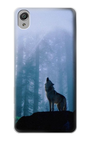Printed Wolf Howling in Forest Sony Xperia X Case