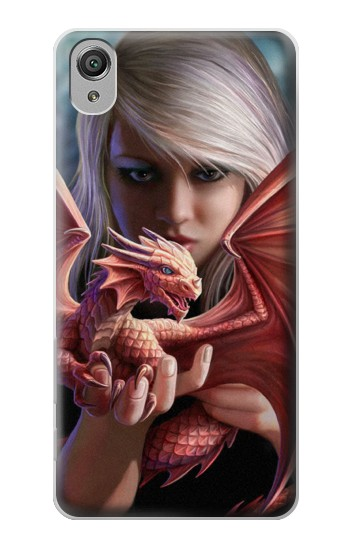 Printed Baby Red Fire Dragon Sony Xperia X Case