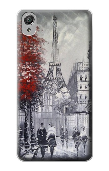 Printed Eiffel Painting of Paris Sony Xperia X Case