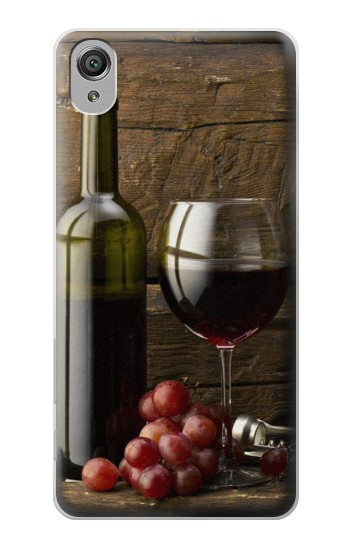 Printed Grapes Bottle and Glass of Red Wine Sony Xperia X Case
