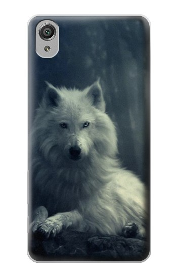 Printed White Wolf Sony Xperia X Case