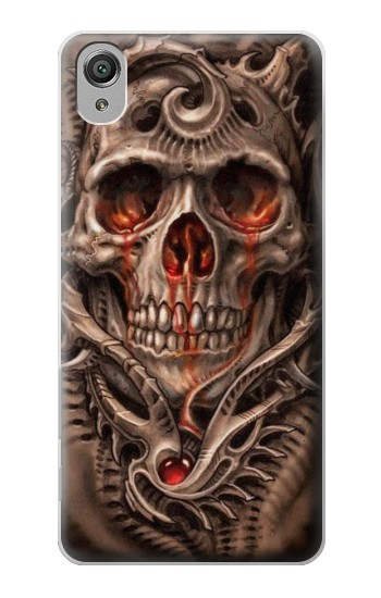 Sony Xperia X Skull Blood Tattoo Case Cover