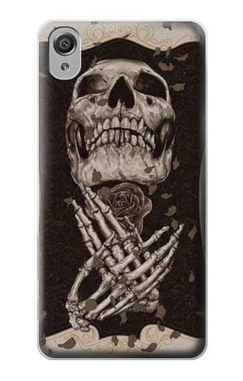 Printed Skull Rose Sony Xperia X Case