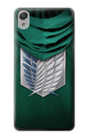 Printed Attack on Titan Scouting Legion Rivaille Green Cloak Sony Xperia X Case